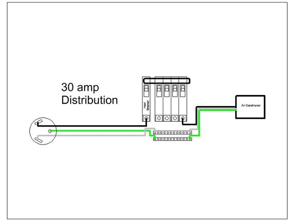 30ampRVDistribution  Amp Rv Schematic Wiring Diagram on twist lock cord, service box, receptacle electrical, breaker box,