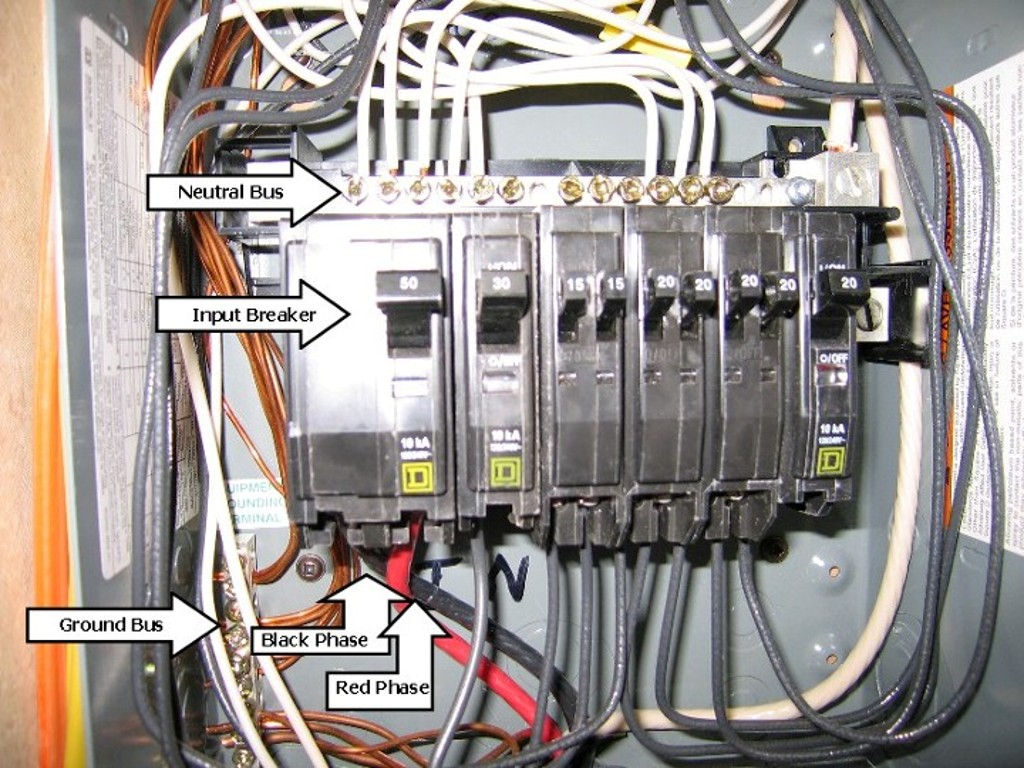 50 amp electrical panel wiring