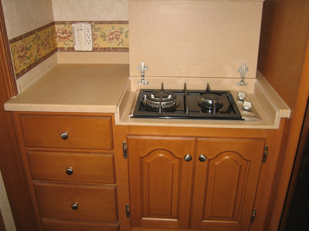 Countertop Stove Cover : Since we had the cooktop installed sideways, the cover was shorter and ...