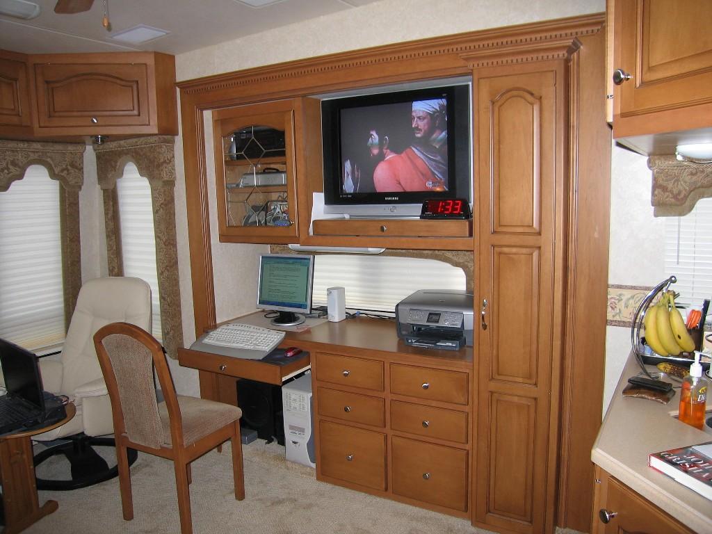 Tige Entertainment Center Desk TS Option